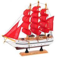 """Корабль """"Сonfection"""", L23,5 W5 H23,5 см (с алыми парусами)  Артикул: 672989(12666)"""