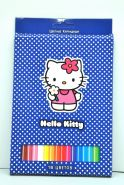 "Цветные карандаши 18цв. АСТ ""Hello kitty""  (00225)"