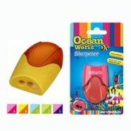 """Точилка Ocean World """"Скат"""", 2 отверстия, с накопителем, блистер"""