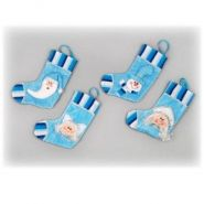 Носок для подарков, 23 см, 4 в (дед мороз, снегурочка, снеговик, ангел),80878