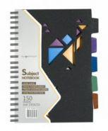 Тетрадь 150л., линейка, 145х210мм, BLACK CONCEPT, 2 дизайна, обл.пластик, на гребне