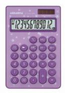"""Калькулятор настольный """"LP-1010-12PR"""", 12 разрядов, сиреневый (12548)"""
