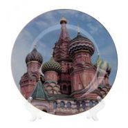 Декоративная тарелка с подставкой, L20 W20 H2 см