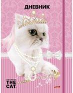 Дневник 1-11 кл. тв.обл.резинка блестки ^THE CAT^ Hatber 12366