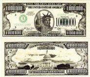 Ненастоящие деньги Пачка 1 000 000 долларовых купюр  (13550)
