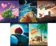 """Тетрадь 48л. А5 клетка """"Angry Birds -Выпуск №6""""  (12783)"""